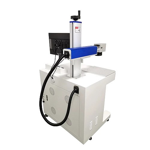 2020 hot sell fiber laser marking machine with rotary 30W Raycus metal engraving machine  have good price