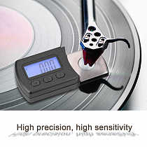 Portable Digital Turntable Stylus Force Scale Meter Gauge LCD Backlight High Precise Tracking Guage For LP Vinyl Record Needle
