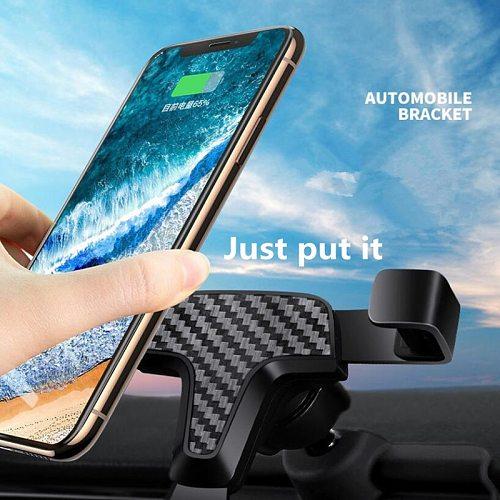 Car phone holder for Toyota RAV4 RAV 4 2019 2020 dedicated Mobile Phone bracket gravity GPS wireless charging stand