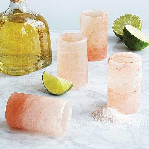 4 Pcs/1 Sets Handmade Tequila Shot Glasses - Pink Shot Glasses Natural Shot Glasses Drink Cups New Listed Чашка соли 4.5cm X 7cm
