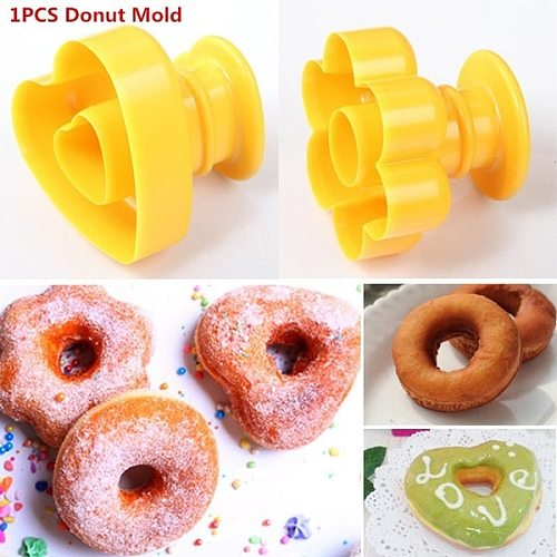 DIY Plastic Doughnut Cake Maker Mold Homes Party Donut Desserts Cutter Mould