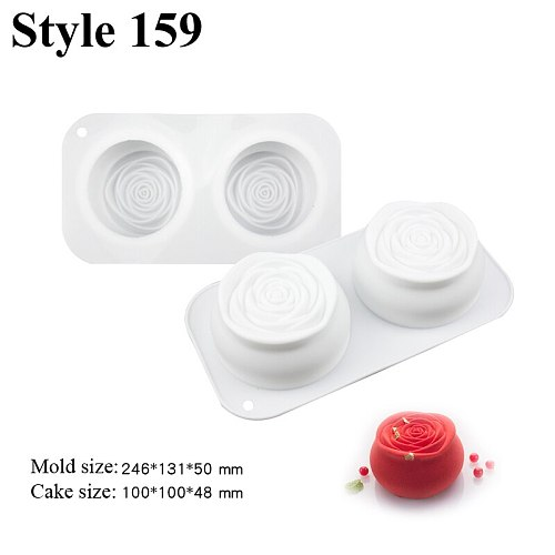 Meibum Non-Stick Mousse Silicone Mold Party Dessert Baking Mould Multiple Types Cake Decorating Tools Pastry Kitchen Bakeware