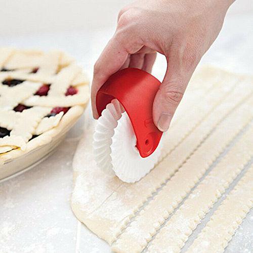 Plastic Wheel Roller Baking Cutter Pizza Pastry Lattice Cutter Pastry Pie Decoration Cutter Pastry Pie Decor Kitchen Home Cocina