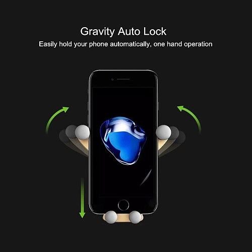 New Gravity Car Phone Holder For Phone in Car Air Vent Clip Mount No Magnetic Mobile Phone Holder GPS Stand  soporte movil coche