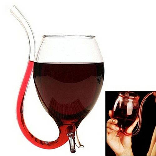 Wine Mug Glass Cup Special Wine Cup with Nozzle Highquality 300ml Red Wine Mug Stylish Clear Gift Party Devil Juice