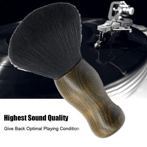 Vinyl Record Cleaning Brush Phonograph Audio Handle Soft Pad Cleaner Static Scrubbing Brush Fiber Anti Carbon Tool Turntabl S2Z7
