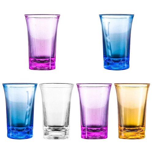 6Pcs 1.2-Ounce Shot Glass Heavy Base Shot Glass Set Party Bar Whiskey Shot Glass  with Elegant appearance and high quality