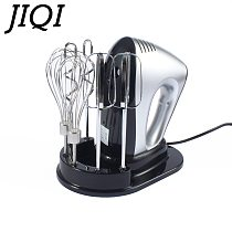 JIQI Automatic Multifunction Household Electric Dough Mixer Handheld Eggs Beater Blender Whisk Whipping Cream Cake Baking Tools