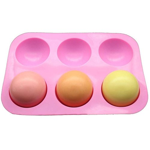 2pcs Half Ball Sphere Silicone Mold Round Cake Chocolate Pastry Bakeware Stencil Pudding Jello Soap Bread Candy Baking Moulds