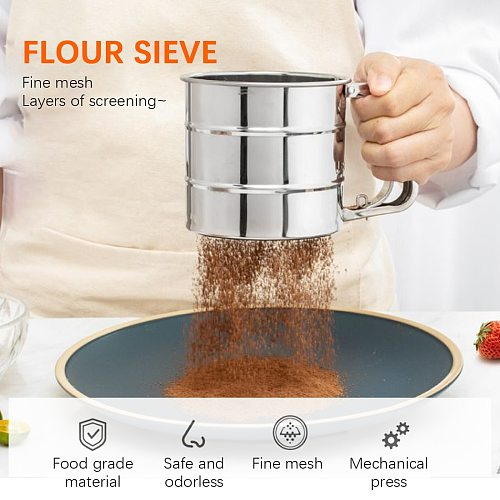 Sieve Cup Powder Flour Sieve Cup Powder Mesh Knife Cake Baking Tools Pastry Tools For Cakes Decorating Pastry Tools Bakeware
