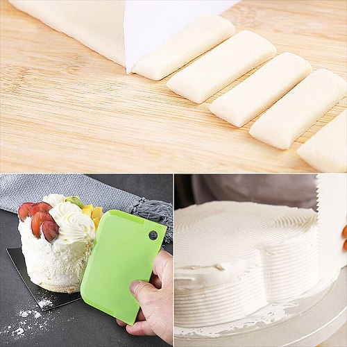 3PCS/Lot Cream Scraper Irregular Teeth Edge DIY Scraper Cake Decorating Fondant Pastry Cutters Baking Spatulas Tools Molds