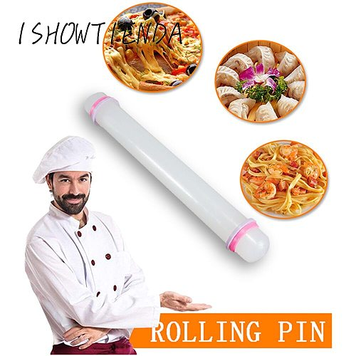 Non-stick Fondant Roller Silicone Rolling Pin Cooking Baking Pastry Dough Roller Pastry Boards  Cake Kitchen Tool #y