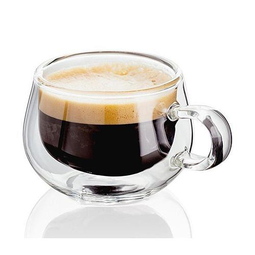 150ml Double Transparent Wall Thermal Glass Cup Heat Resistant Tea Coffee Mug with Handle Whiskey Glass Coffee Mug  Bar Supplies