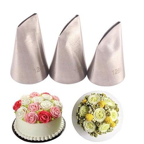5Pcs/set Flower Scissors+Cake Decorate Tray +Rose Nozzle Nail Decor Lifter Fondant  Cream Transfer Baking Pastry 124K 125K 126K