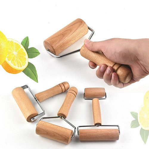 Rolling Pin Pastry and Pizza Baker Cookies Crush Baking Roller Crackers Kitchen Utensils Nuts Wooden