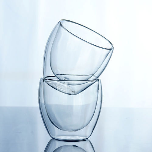 Faroot Double Wall Glass Cup Clear Resistant Handmade Mini Tea Mug Coffee Milk Juice Healthy Drink Double Layer Glass Mug