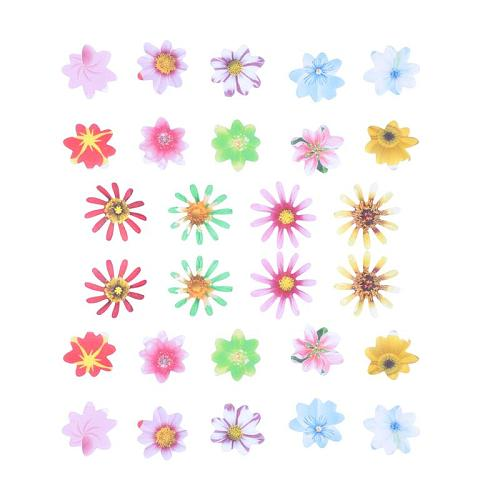 40/48/72/120pcs Edible Rice Paper Flowers Wafer Paper Flower Colorful Cupcake Toppers Desserts Cake Decoration