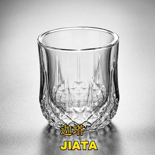 Glass Double Whiskey Wine Glass Bar Red Wine Glass Creative Coffee Milk Glass Business Gift Mugs Coffee Cups  Water Glass Cup