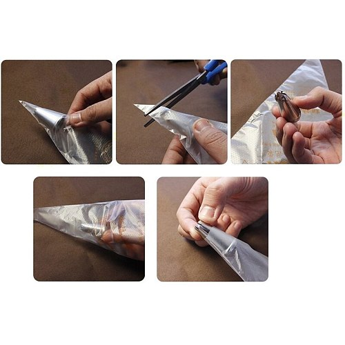 100-Pack Pastry Bags 10-Inch Disposable Icing Bags Decorating Bags Baking and Cake Decorating Supplies