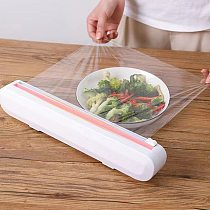 Cling Film Cutter Household Suction Cup Wall Hanging Kitchen Supplies Artifact Tin Foil Dividing Box Food Packaging Knife