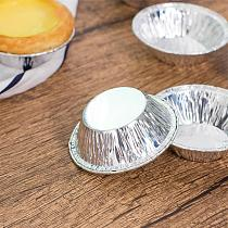 100Pcs Disposable Tin Foil Round Egg Tart Mold Cupcake Cookie Mould Kitchen Baking Tools Supplies Accessories Products