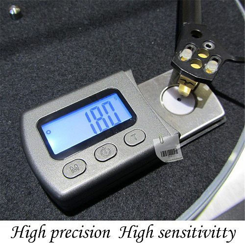Digital Turntable Stylus Force Scale Meter Gauge LCD Backlight High Precise Tracking Guage For LP Vinyl player Records Needle
