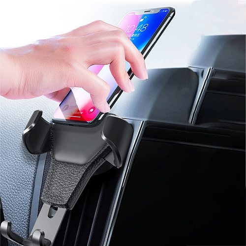 Gravity Car Phone Holder Auto Interior Stand Air Outlet Vent Clip No Magnetic For Universal MobilePhone GPS System Mount Stable