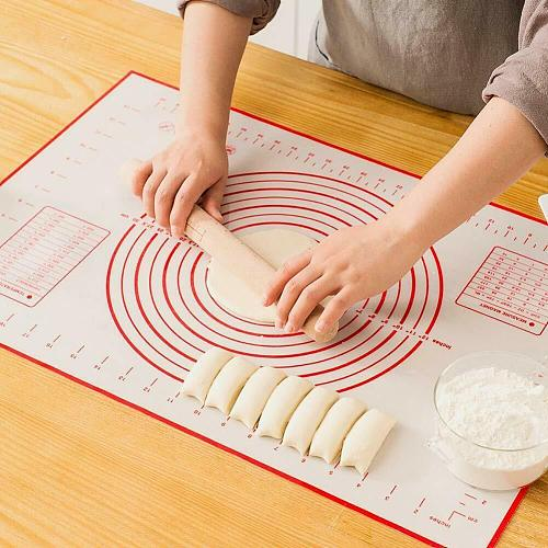 Large Size Silicone Baking Mat Pastry Rolling Kneading Pad Kitchen  Pizza Dough Non-stick Pastry Mat with Scale Cooking Pad