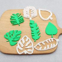 Creative 4pcs Leaf Leaves Jungle Biscuit Cookie Cutter Fondant Cake Decorating Mold DIY Cookie Mold Baking Tools For Kitchen