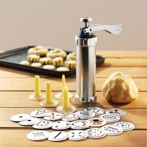 20 Cookie Molds and 4 Nozzles Cookies Press Cutter Set Baking Tools Cookie Biscuits Press Machine Kitchen Tool Bakewar
