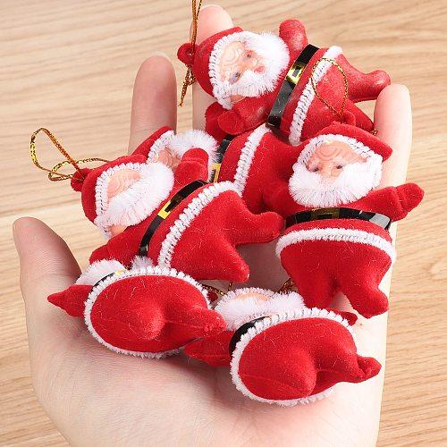 2/6 pcs Christmas Drop Ornaments Multi-Color Santa Claus Party Xmas Tree Hanging Decor Gifts Kids Favors  Decoration