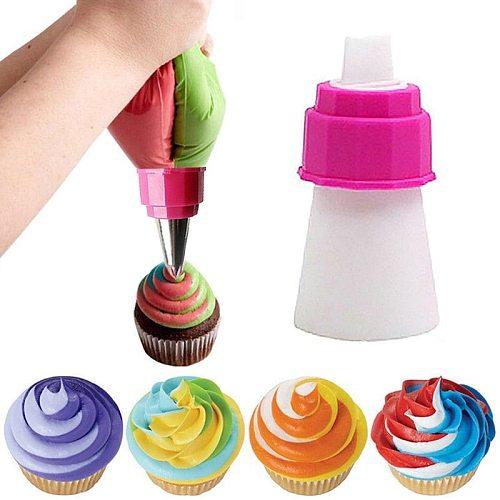 Plastic Converter Adapter Pipe Bag Cream Nozzle Pipe Coupler Pastry Icing Cake Decorating Tools DIY Cake Cream Syringe Tips