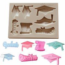 Yueyue Sugarcraft Graduation silicone mold fondant lace mold cake decorating tools chocolate gumpaste mold