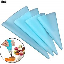 Silicone Reusable Icing Piping Bag Pastry Bag Cake Cream DIY Cake Decorating Tools Pastry Tools Silicone Cake Tools Bakeware