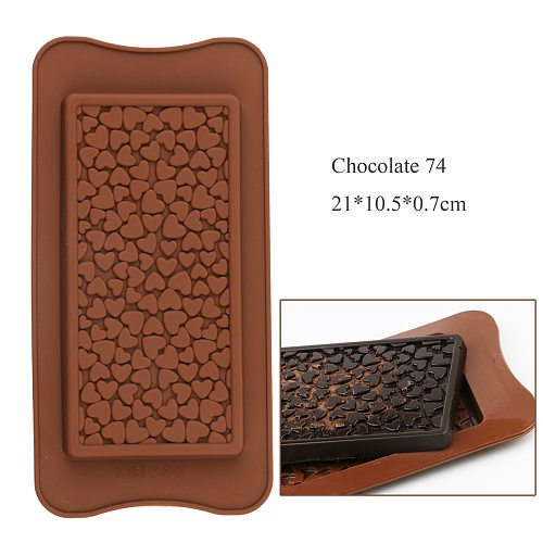 NEW Silicone Chocolate Bar Mold  Love Heart Food grade silicone Non-stick Baking For chocolate candy birthday cake decoration