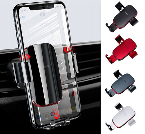 Car Phone Gravity Bracket Metal Age Snap-in Multifunctional Holder Auto Air Vent Mount Universal Stand