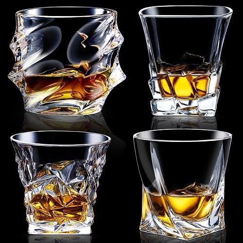 Heat Resistant Lead-free Transparent Crystal Wine Glass Beer steins Whiskey Brandy Vodka Cup Multi Pattern Drinkware Bar Gifts