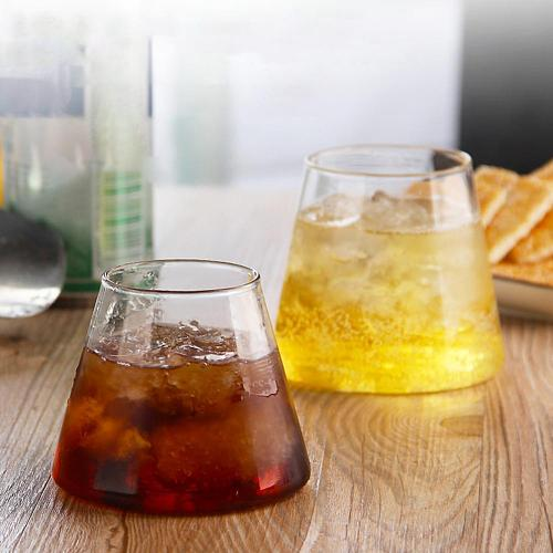 250/300ml Heat Resistant Clear Irregular Ice Cream Whisky Beer Glass Cup Mug  Glass Cup