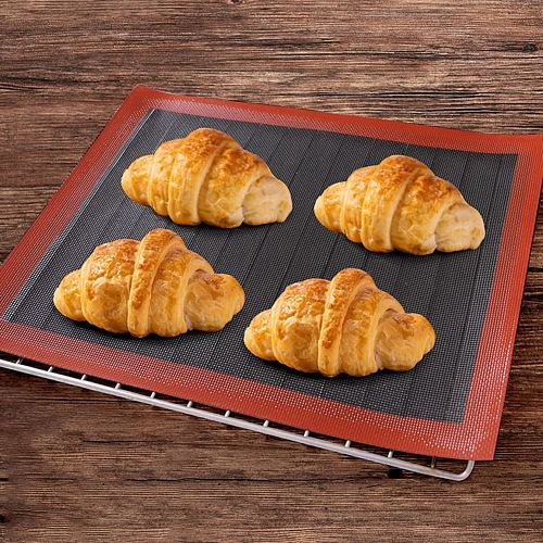 Silicone Mat 18 Eclair Pastry Non Stick Puff Perforated Liner Pad Macaron Cookie Bread Mold For Baking Tools Oven Sheet Bakeware