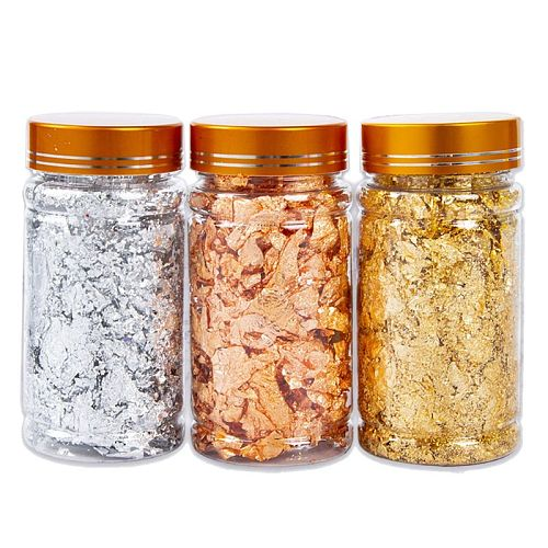 3 Colors Metallic Foil Flakes Sequins Glitters for Resin Painting Arts Nail Art U4LF