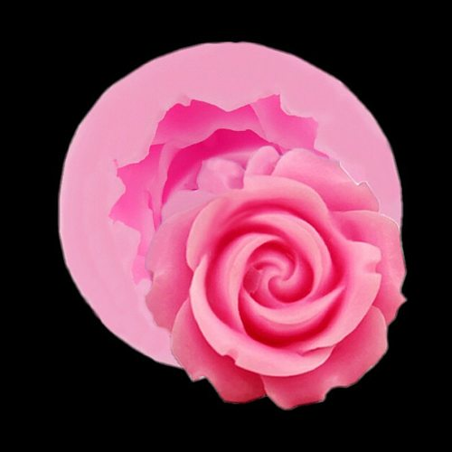 3D Flower Bloom Rose shape Silicone Fondant Soap Cake Mold Cupcake Jelly Candy Chocolate Decoration Baking Tool Moulds Cheaper