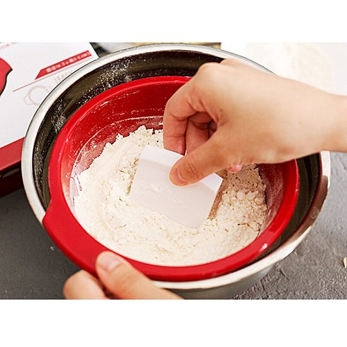 1pc Ultra-fine Stainless Steel Mesh Sifter Manual Sieves Plastic Flour Shaker With Scrapers Kitchen Gadget Baking Tools
