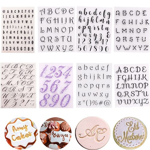 Cake Cookie Cutter Embosser Stamp Alphabet Fondant Mold Letter Famliy Member Holiday Party Decorating Fondant Cake Tools