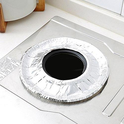 10 PCS Kitchen Gas Stove Oil Pad Thicken Aluminum Foil Waterproof oil proof Tin Foil Keep Clean Kitchen Supplies