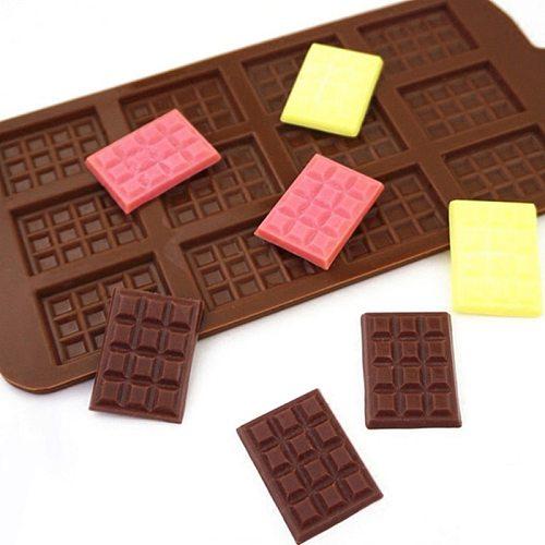 Silicone Mini Chocolate Block Bar Mould Mold Ice Tray Cake Decorating DIY Baking Cake Decoration Kitchen Baking Accessories