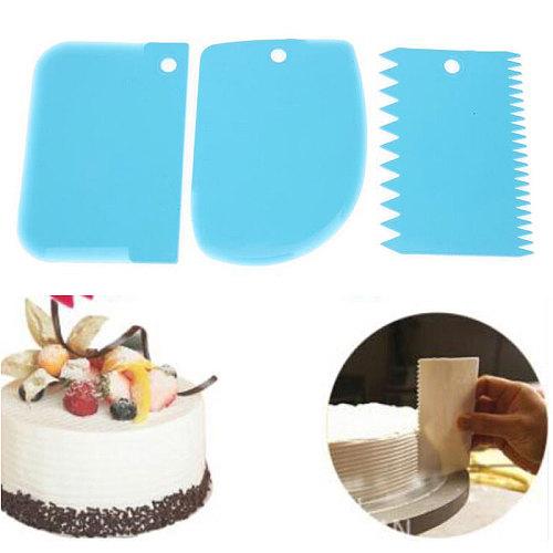 2020 New 3pcs/set Plastic Dough Fondant  Cake Decorating Baking Tool Pastry Tools Smooth Jagged Edge Spatulas Cutters
