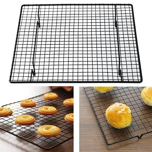 Carbon Steel Wire Grid Design Cooling Tray Cake Food Rack Oven Kitchen Baking Pizza Bread Barbecue Cookie Biscuit Holder Shelf