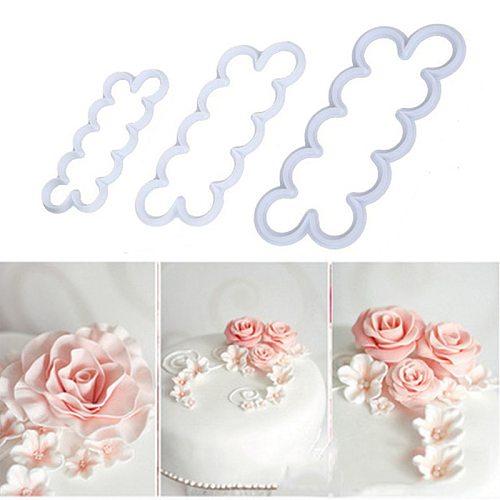 1set Baking Accessories Cake Mold Rose Petal Flower Cutter Rose Maker Mold Fondant Cake Pastry Decorating Tool Kitchen Gadgets