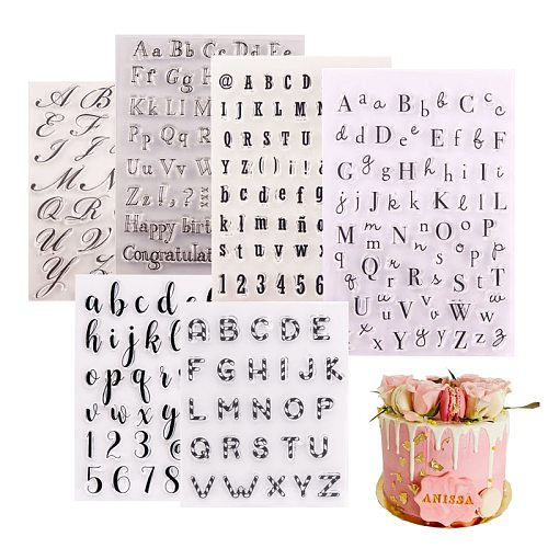 1PC Cake Tool Letter Alphabet Cookie Cutter Embosser Stamp Sticky Decorating Tools Fondant Mould Sugarcraft