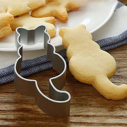 Hot Kitchen Cookie Cutter Cat Shaped Aluminium Mold Sugarcraft Cake Cookies Pastry Baking Cutter Mould Cake Decorating Tools